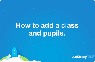 How to add a class and pupils