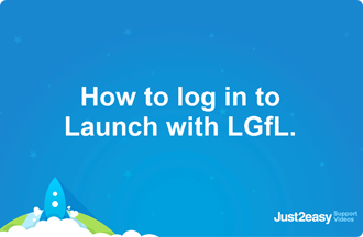 How to log in to Launch with LGfL
