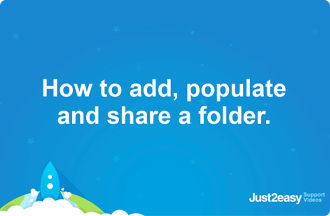 How to add, populate and share a folder